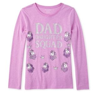 NWT Glitter Dad Daughter Squad long Sleeve tee